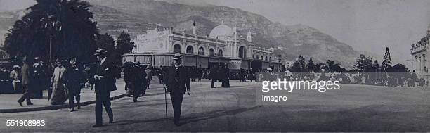 Monte Carlo Place with the casino About 1910 Photograph of Otto Wöllner / Vienna
