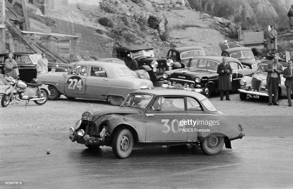 monte carlo rally 1956 monaco le 27 janvier 1956 le rallye de pictures getty images. Black Bedroom Furniture Sets. Home Design Ideas