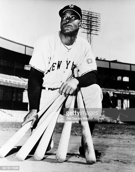 Monte Irvin left fielder and first baseman of the New York Yankees poses for a portrait circa 1950