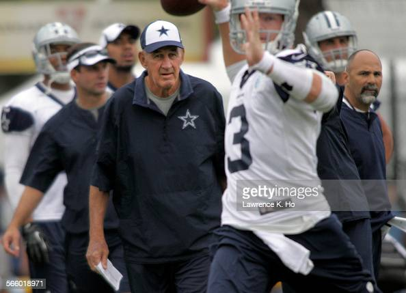 Monte Kiffin Dallas Cowboys' new Defensive Coordinator in Cowboys' training camp in Oxnard on Jul 21 2013 Dallas Cowboys' training camp in Oxnard