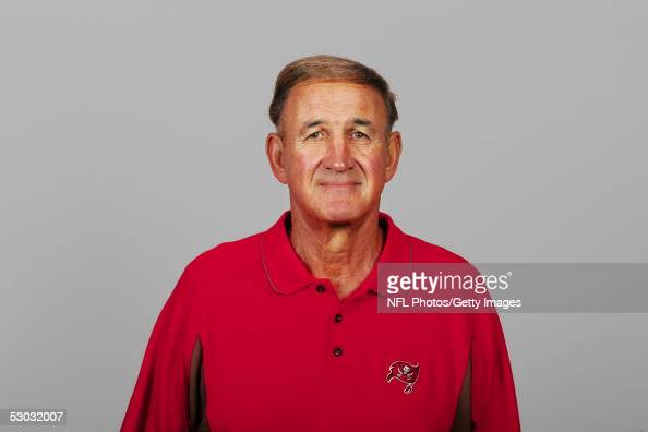 Monte Kiffin of the Tampa Bay Buccaneers poses for his 2005 NFL headshot at photo day in Tampa Florida
