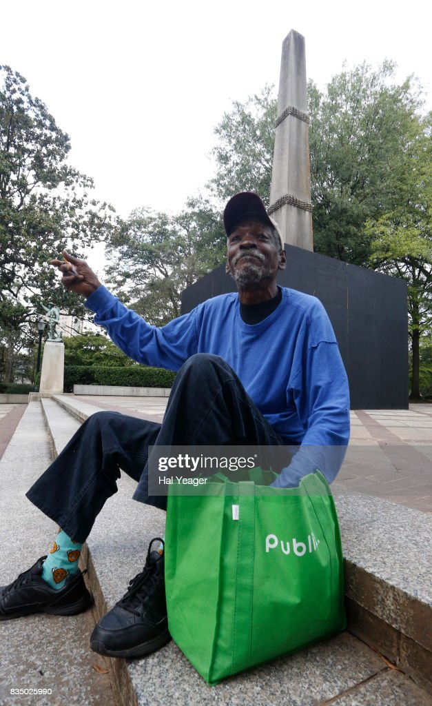 Monte Lemon sits by the now covered confederate monument in Linn Park on August 18, 2017 in Birmingham, Alabama. Lemon stated that the controversy over the monument is ISIS come to America. Lemon wished officials would concern themselves with homeless and hungry people instead of old monuments. Alabamas attorney general Steve Marshall sued the city of Birmingham and the mayor for partially covering the Confederate monument with a wooden box, citing it violated the Alabama Memorial Preservation Act.