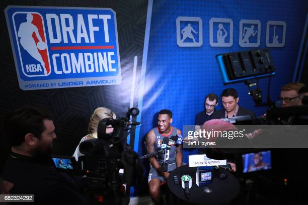 Monte Morris talks to the media during the NBA Draft Combine at the Quest Multisport Center on May 11 2017 in Chicago Illinois NOTE TO USER User...