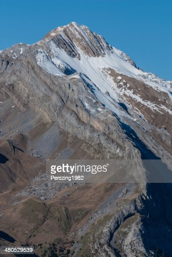Monte Perdido in Ordesa National Park, Huesca. Spain. : Stock Photo