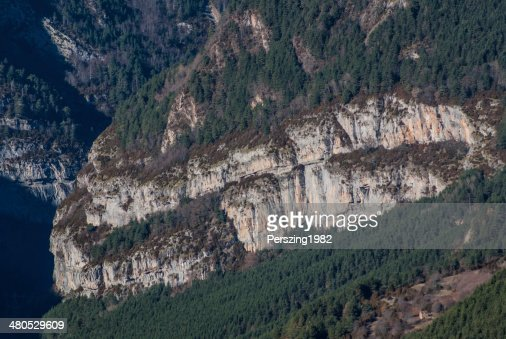 Monte Perdido in Ordesa National Park, Huesca. Spain. : Stock Photo