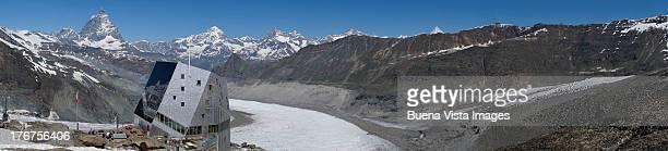 Monte Rosa Hut and Matterhorn