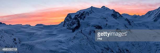 Monte Rosa, Sunrise, Switzerland