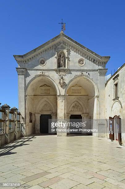 Monte Sant'Angelo rock church entrance, Italy