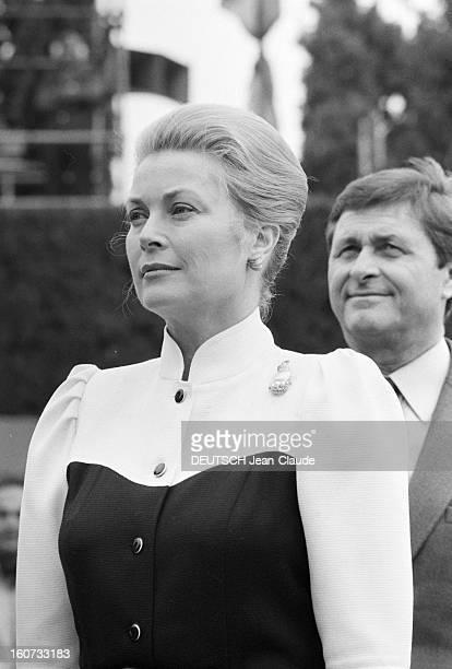 Montecarlo Tennis Tournament 1980 En mai 1980 à Monte Carlo remise du trophée du tournoi de tennis par GRACE de Monaco Portrait de la princesse