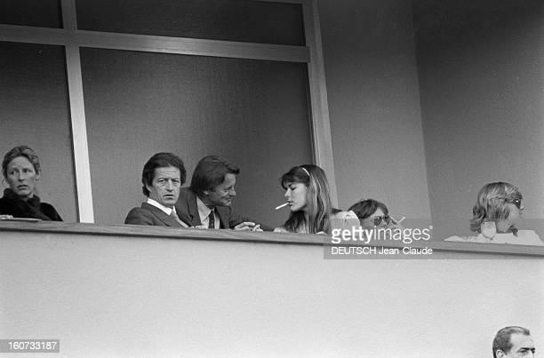 Montecarlo Tennis Tournament 1980 En mai 1980 à MonteCarlo pendant le tournoi de tennis la famille princière de Monaco à la tribune Caroline de...