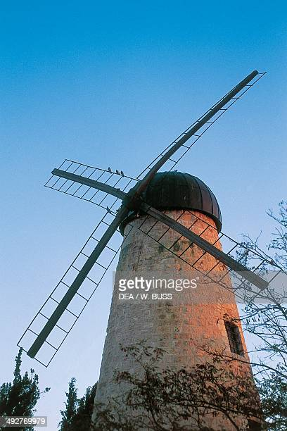 Montefiore Windmill now the site of Yad Montefiore a museum dedicated to Moses Montefiore Yemin Moshe Jerusalem Israel