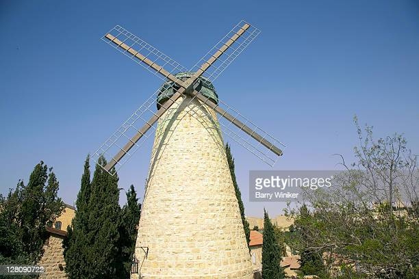 Montefiore's Windmill, to grind flour, in the community called Yemin Moshe, Jerusalem, Israel
