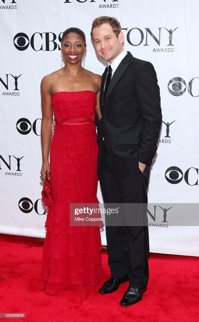 Montego Glover (L) and Chad Kimball attend the 64th Annual Tony Awards at Radio City Music Hall on June 13, 2010 in New York City.