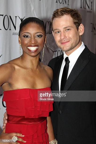 Montego Glover and Chad Kimballl attend the 64th Annual Tony Awards at Radio City Music Hall on June 13 2010 in New York City