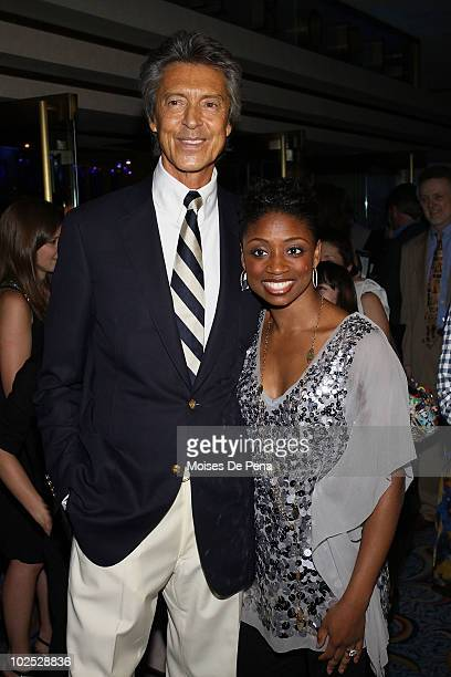 Montego Glover and Tommy Tune attend the 2nd National High School Musical Theater Awards at the Marriott Marquis Theater on June 28 2010 in New York...