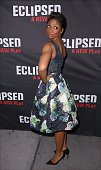 Montego Glover attends the Broadway Opening Night Performance of 'Eclipsed' at Golden Theatre on March 6 2016 in New York City