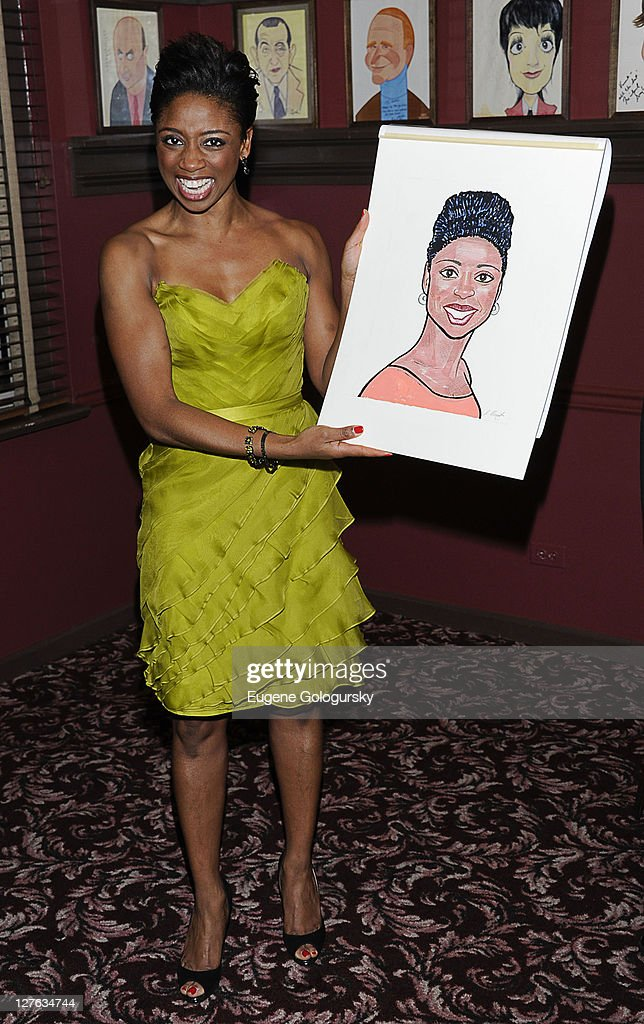 "Broadway's ""Memphis"" Stars Montego Glover And Chad Kimball Caricatures Unveiling"
