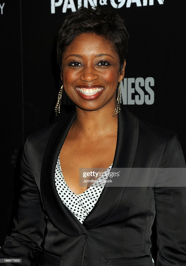 Montego Glover attends The Cinema Society and Men's Fitness host a screening of 'Pain and Gain' held at Crosby Street Hotel on April 15, 2013 in New York City.