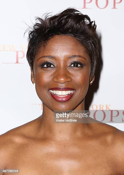 Montego Glover attends The New York Pops 31st Birthday Gala at the Mandarin Oriental Hotel on April 28 2014 in New York City
