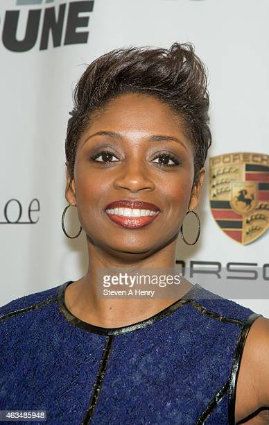 Montego Glover attends The Players' Tribune Launch Event at Canoe Studios on February 14 2015 in New York City