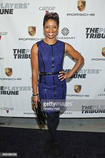 Montego Glover attends The Players' Tribune Launch Party wwwtheplayerstribunecom at Canoe Studios on February 14 2015 in New York City