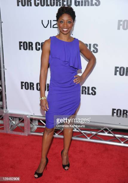 Montego Glover attends the premiere of 'For Colored Girls' at the Ziegfeld Theatre on October 25 2010 in New York City