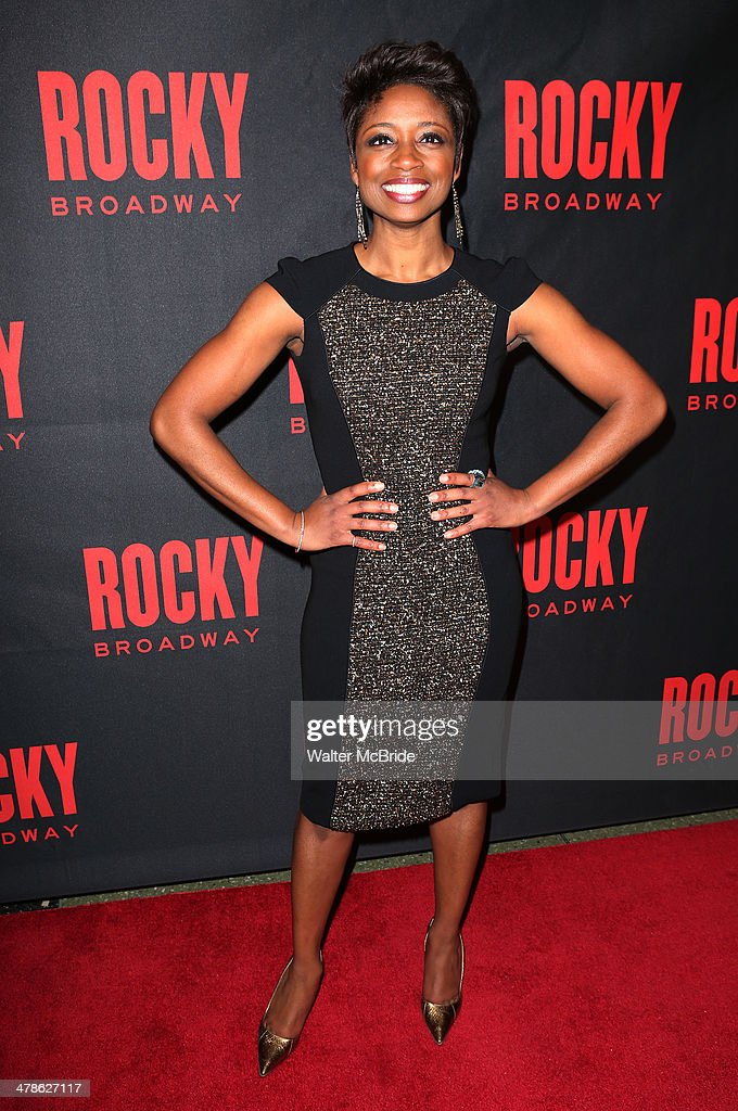 Montego Glover attends the 'Rocky' Broadway Opening Night After Party at Roseland Ballroom on March 13, 2014 in New York City.