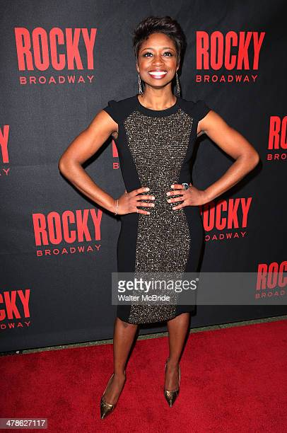 Montego Glover attends the 'Rocky' Broadway Opening Night After Party at Roseland Ballroom on March 13 2014 in New York City