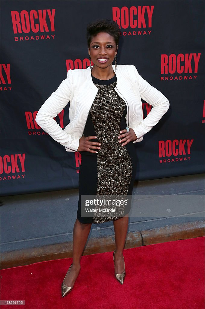 Montego Glover attends the 'Rocky' Broadway Opening Night at Winter Garden Theatre on March 13, 2014 in New York City.