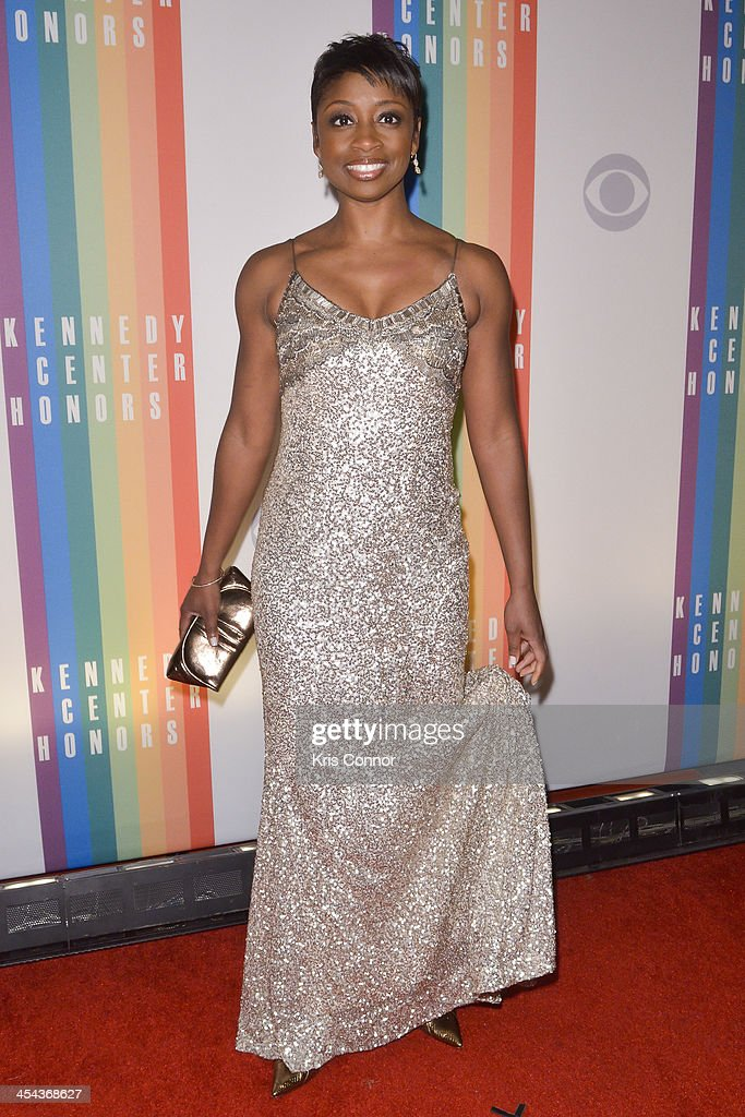 <a gi-track='captionPersonalityLinkClicked' href=/galleries/search?phrase=Montego+Glover&family=editorial&specificpeople=2235786 ng-click='$event.stopPropagation()'>Montego Glover</a> poses on the red carpet during the The 36th Kennedy Center Honors gala at the Kennedy Center on December 8, 2013 in Washington, DC.