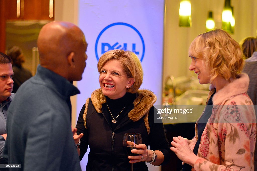 Montel Williams, DELL SMB Global Communications Jennifer 'JJ' Davis and Managing Editor for Dell Global Communications Stephanie Losee attend Drink and Dine with Dell and #Inspire 100 Honorees at Sundance Film Festival on January 19, 2013 in Park City, Utah.