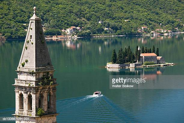 Montenegro, Bay of Kotor, Perast, Church of St. Nikola and Island of St, George