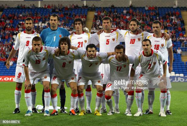 Montenegro line up before the game Back Row Mirko Vucinic Mladen Bozovic Stefan Savic Radoslav Batak Radomir Djalovic and Nikola Drincic Front Row...