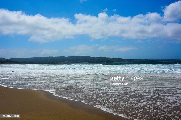 Monterey Bay beach looking across to Monterey