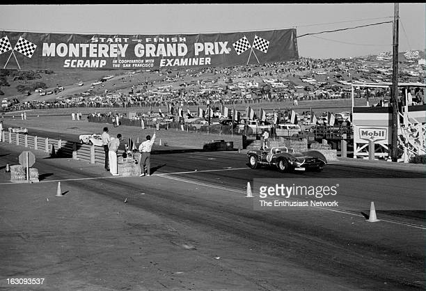 Monterey Grand Prix Eventual race winner Walt Hansgen in a Ford powered Lola T70 leads Hap Sharp in his Chevrolet powered Chaparral 2A down the...