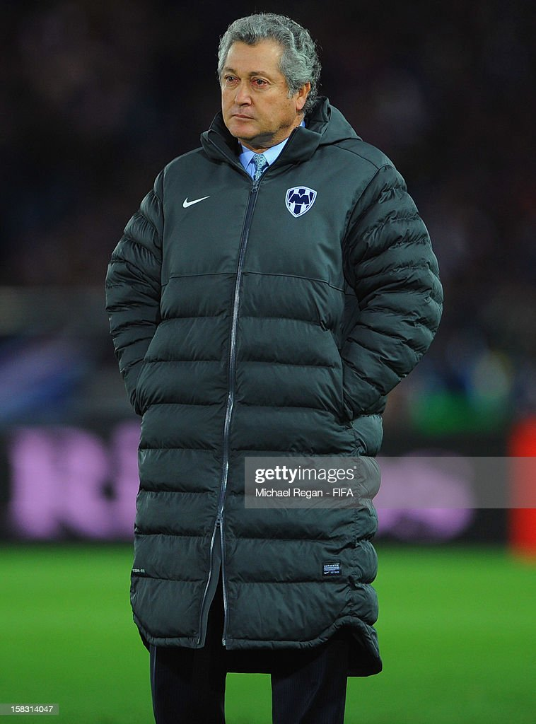 Monterrey manager Victor Vucetich looks on during the FIFA Club World Cup Semi Final match between CF Monterrey and Chelsea at International Stadium Yokohama on December 13, 2012 in Yokohama, Japan.