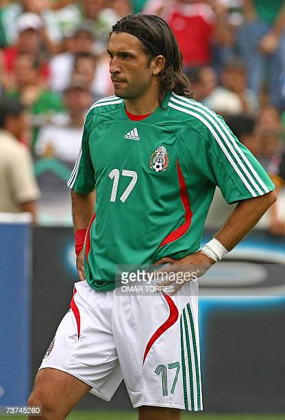 Mexican football player Francisco Fonseca during a friendly match against Paraguay in Monterrey 25 March 2007 AFP PHOTO / Omar TORRES