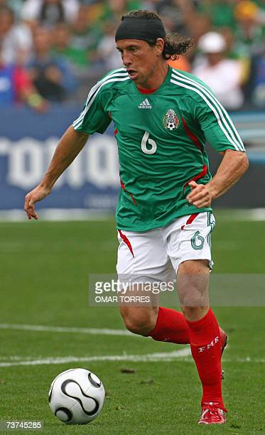 Mexican football player Gerardo Torrado during a friendly match against Paraguay in Monterrey 25 March 2007 AFP PHOTO / Omar TORRES