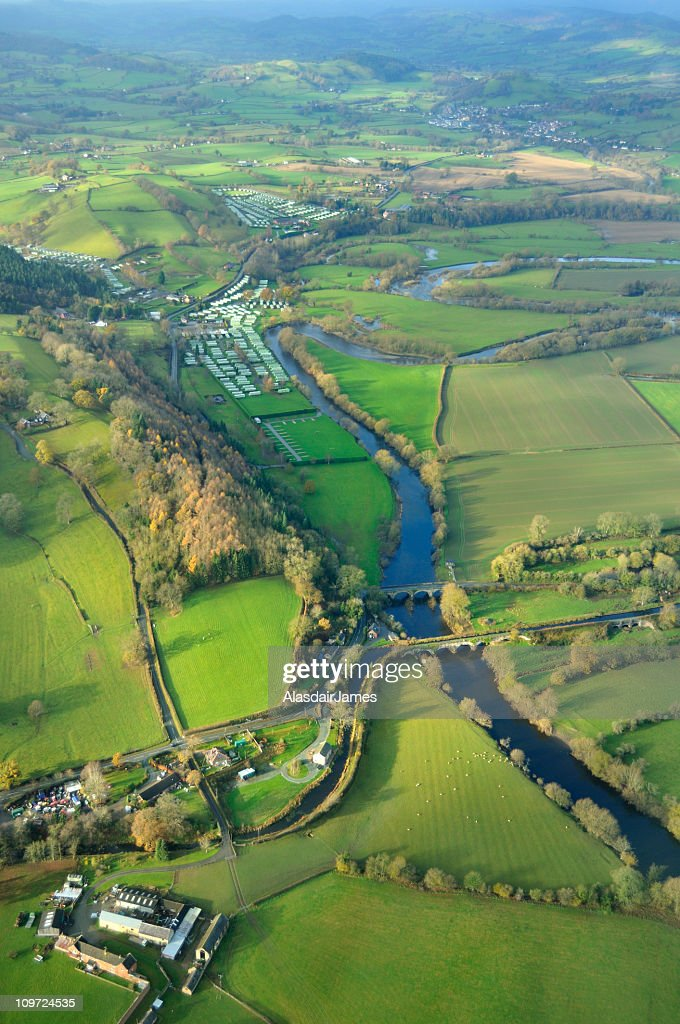 Montgomery Canal and the River Vyrnwy : Stock Photo