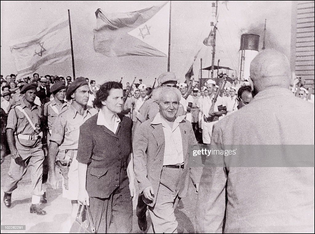 A month and half after the state of Israel was proclaimed in Tel Aviv 14 May 1948 and four hours after the last British soldier left the new state...