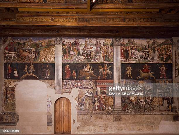 Months of May April and March ca 1470 by Francesco del Cossa fresco east wall Hall of the Months Palazzo Schifanoia Ferrara EmiliaRomagna Italy 15th...