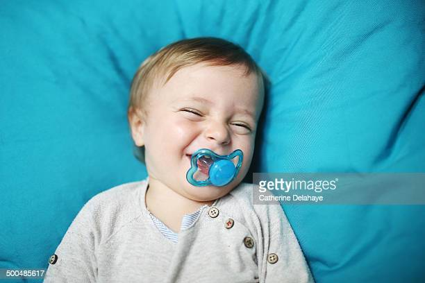 A 18 months old boy with a pacifier