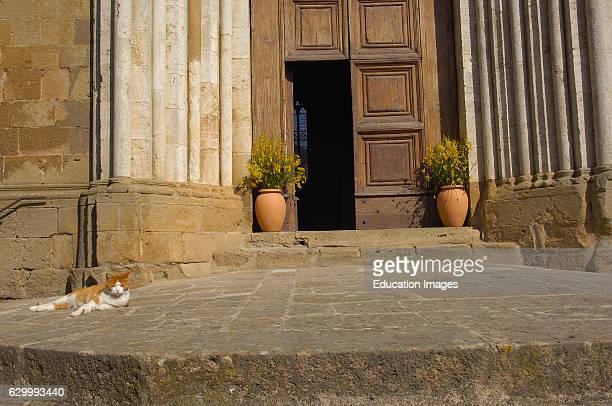 Montichiello Chiesa dei Santi Leonardo e Cristoforo Pienza Val d'Orcia Orcia Valley UNESCO world heritage site Siena Province Tuscany Italy Europe