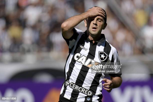 Montillo of Botafogo reacts during the match between Botafogo and Coritiba as part of Brasileirao Series A 2017 at Engenhao Stadium on June 11 2017...