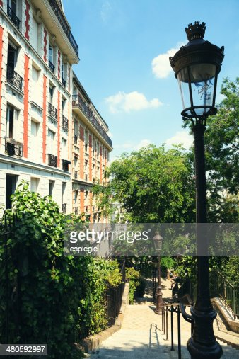 Montmarte Stairs, Paris : Stock Photo