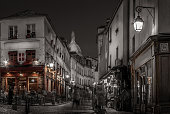 Montmartre at night desaturated