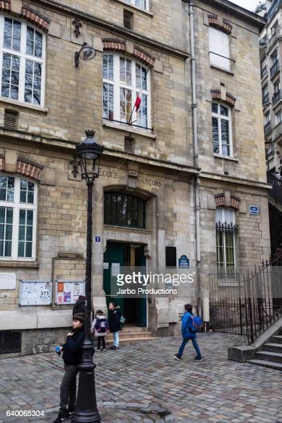 Montmartre Boys School - street scene