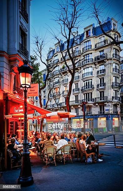 Montmartre in Paris at dusk