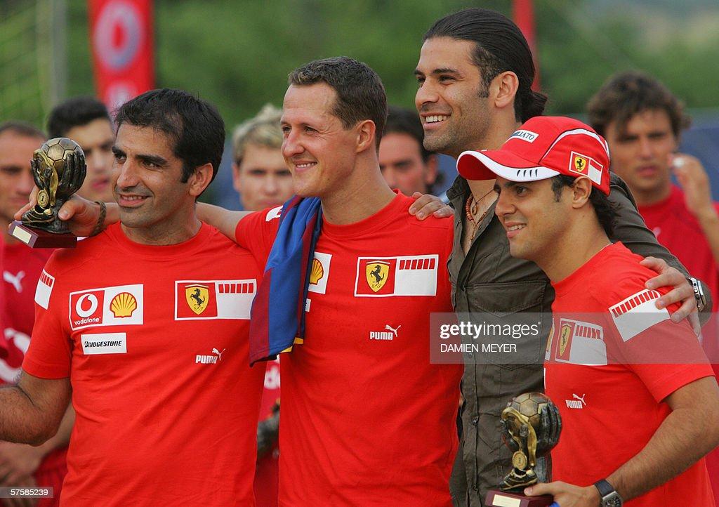 ¿Cuánto mide Michael Schumacher? - Altura - Real height Montmelo-spain-german-ferrari-driver-michael-schumacher-and-teammates-picture-id57585239