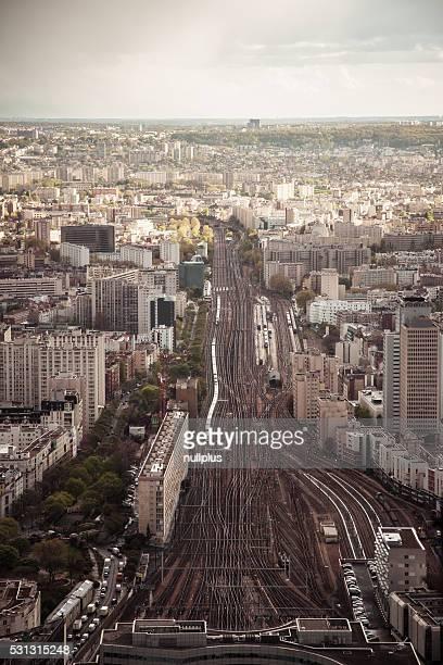 La gare Montparnasse, à Paris, France